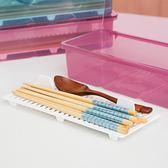 全館超增點大放送日本 筷子盒家用帶蓋瀝水防塵刀叉收納盒創意廚房塑料餐飲具