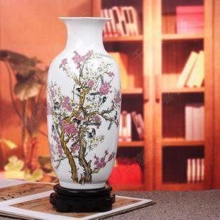 景德鎮陶瓷器 白色冬瓜瓶
