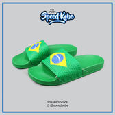 NIKE ADIDAS ADILETTE FLAGS 巴西 綠黃 世界盃足球限定 義大利製 # D65794 ☆speedkobe☆
