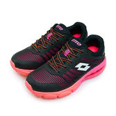 LIKA夢 LOTTO 專業KPU氣墊慢跑鞋 鳳凰展翼系列 黑桃 5280 女