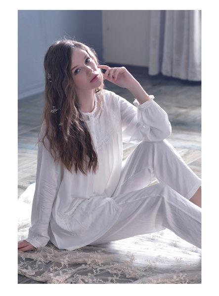 夏季新品純棉睡衣女甜美家居服全棉休閒夏天薄款套裝 -swe0029
