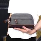 時尚簡約潮流夾包手抓包 商務大容量手拿包手包 韓版休閒手拿包男生包包 耐磨帆布男士手機包