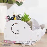 文具收納盒辦公桌面裝筆筒多功能創意時尚筆筒韓國可愛小清新木質【奇貨居】
