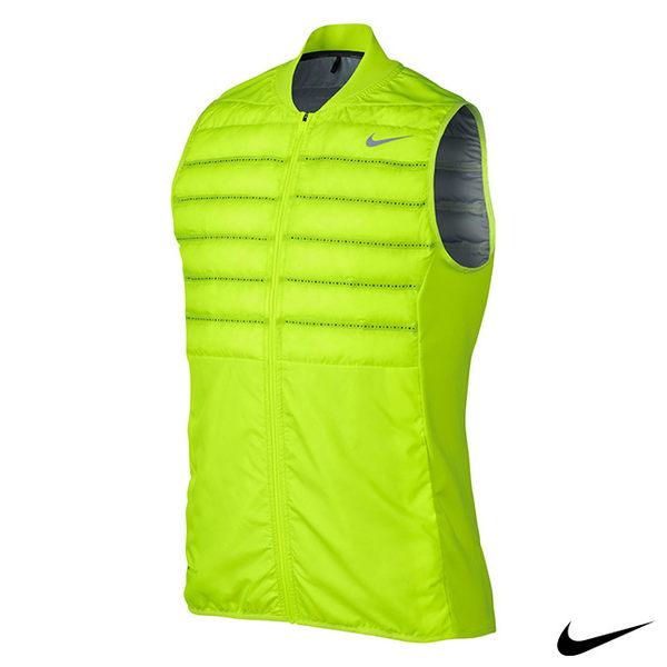 NIKE AEROLOFT 輕量保暖運動背心外套(螢光黃)801892-702