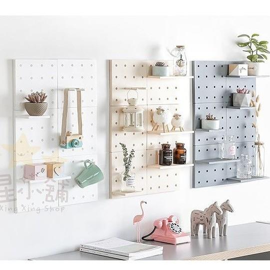 ⭐星星小舖⭐ 4色現貨! 洞洞板 牆上 置物架 裝飾架 網格 網架 展示架 收納 收納盒 置物架 壁掛