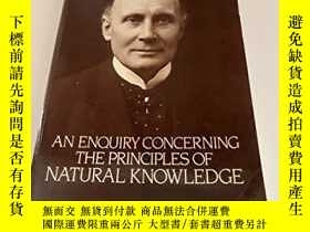 二手書博民逛書店稀缺,An罕見Enquiry Concerning the Principles of Natural Knowl