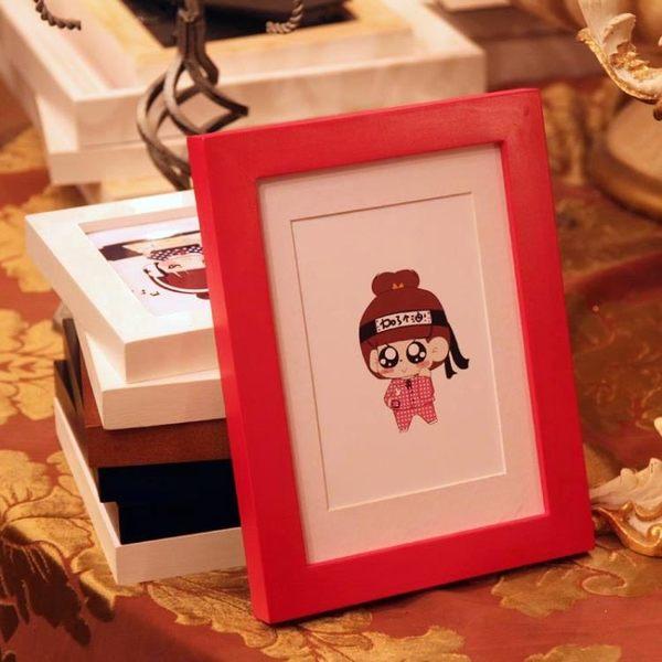 實木掛墻相框擺臺7寸6 5 8 10 11 12寸A4相片架創意宜家兒童畫框 挪威森林