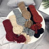聖誕節狂歡 韓國ins系帶毛球耳罩秋冬款毛線加絨保暖耳包日系可愛針織耳套女 森活雜貨