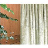 HOLA 素色緞紋雙層遮光落地窗簾270x230cm 卡其金