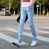夏季潮男裝薄款牛仔褲男士韓版修身型小腳褲男百搭休閒牛仔長褲子『潮流世家』