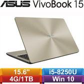 ASUS華碩 VivoBook 15 X542UN-0091C8250U 15.6吋筆記型電腦 霧面金