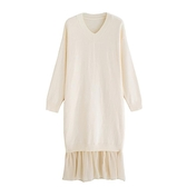 大碼洋裝 秋冬裝年打底大碼女裝胖mm內搭減齡顯瘦針織連身裙子毛衣  芊墨左岸 上新