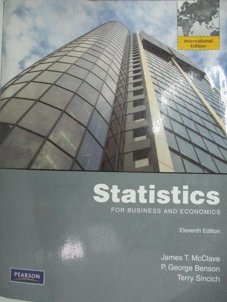 【書寶二手書T1/大學商學_DBL】Statistics for Business and Economics_McClave,etc