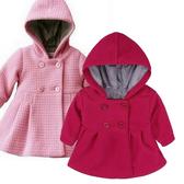 寶寶外套 加厚保暖大衣 粉紅排釦連帽外套 典雅 氣質 秋冬童裝 SK004 好娃娃