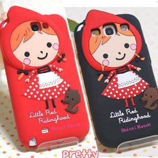 note2 韓國小紅帽三星note2 n7100手機矽膠套 S3 I9300 S4 i9500  iPhone4/4S  iPhone5