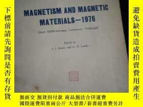 二手書博民逛書店MAGNETISM罕見AND MAGNETIC MATERIALS-1976 (英文)Y16149