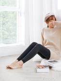 米圖加絨九分褲襪女顯瘦保暖加厚款 季純色棉日繫咖色打底褲 七夕禮物