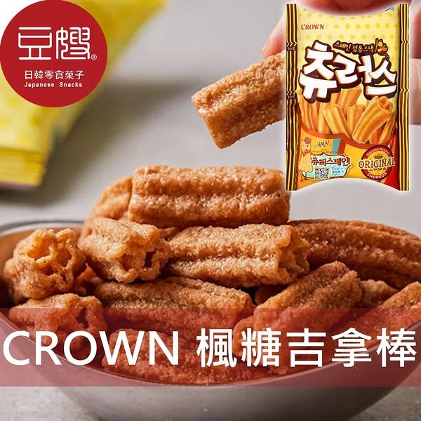 【豆嫂】韓國零食 CROWN 楓糖味吉拿棒餅乾(84g)