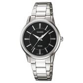 【CASIO】簡約時尚女腕錶-羅馬黑面(LTP-1303D-1A)