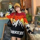 韓版毛衣女生長袖 女士毛衣時尚加厚上衣 時尚百搭大碼潮流秋冬保暖打底衫 寬鬆女生針織衫