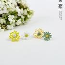 耳環 小雛菊花朵霧面質感不對稱耳飾-BAi白媽媽【306084】