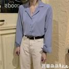 長袖襯衫 春裝正韓百搭西裝領長袖襯衫女設計感 心機上衣外套-Ballet朵朵