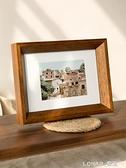 北歐實木質相框ins簡約風桌面擺件擺臺6 7 8寸洗照片做成相框掛墻 樂活生活館