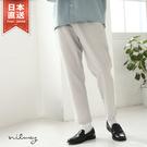 【NILWAY】微光澤感休閒長褲 鬆緊褲...