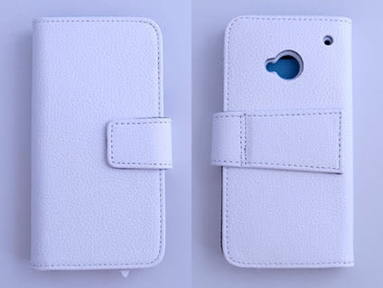 New HTC One (HTC X810e)/One 4G LTE 真皮側翻皮套/保護殼/保護蓋/保護套/保護袋/手機包 荔枝紋 5色可選