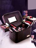雙十二狂歡購大容量韓國化妝包多功能小號方袋便攜手提多層化妝品收納盒簡約箱