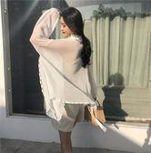 復古溫柔氣質蕾絲花邊空調防曬雪紡開衫+百搭松緊顯瘦抹胸上衣女禮物限時八九折