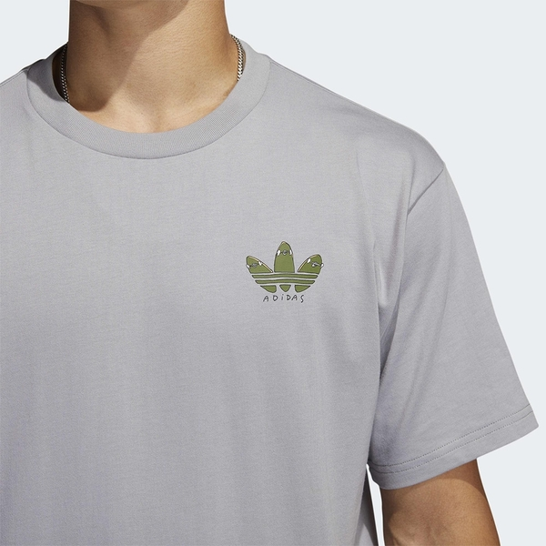 Adidas Henry Jones Can 男裝 女裝 短袖 T恤 情侶 插畫 聯名 純棉 灰【運動世界】GL9982