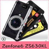 【萌萌噠】ASUS ZenFone6 ZS630KL 復古偽裝保護套 全包軟殼 懷舊彩繪 計算機鍵盤錄音帶 手機殼