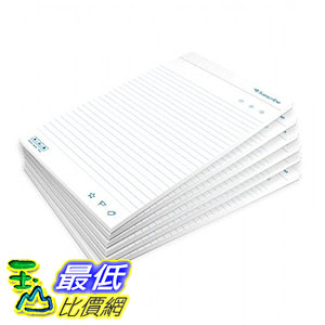 [106美國直購] Livescribe ANX-00006 筆記紙 Top-Bound Notepad, Pack of 6