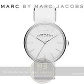 【南紡購物中心】MARC BY MARC JACOBS國際精品Peggy簡約時尚真皮腕錶-白/36mm MBM1361