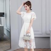 洋裝 韓版氣質小香風蕾絲連身裙 降價兩天