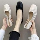豆豆鞋 單鞋女平底新款仙女風一腳蹬春款鞋子百搭樂福鞋春季豆豆鞋 阿薩布魯