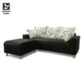 ♥多瓦娜 小朗奇時尚L型透氣皮沙發/四色/台灣製 190-S0 沙發 L型沙發