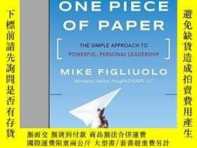 二手書博民逛書店One罕見Piece Of PaperY256260 Mike Figliuolo Jossey-bass
