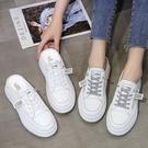 穆勒鞋.韓國街頭率性字母透膚帆布厚底拖鞋.白鳥麗子