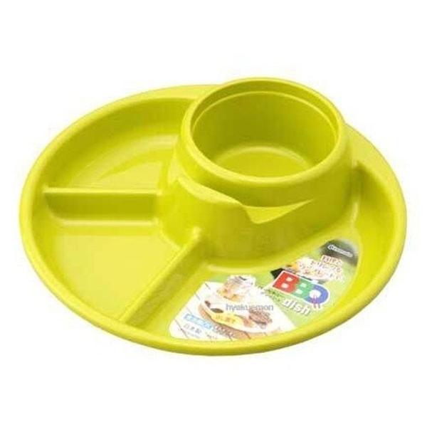 【日本製】【Inomata】日本製 烤肉野餐餐盤 圓形 綠色(一組:10個) SD-13708 - Inomata
