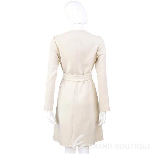 PAOLA FRANI 米白色排釦造型拉鍊大衣 0930187-03