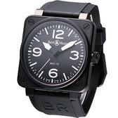 Bell & Ross 飛鷹戰士 自動機械腕錶 (BR0192-BL-CA-SWA)