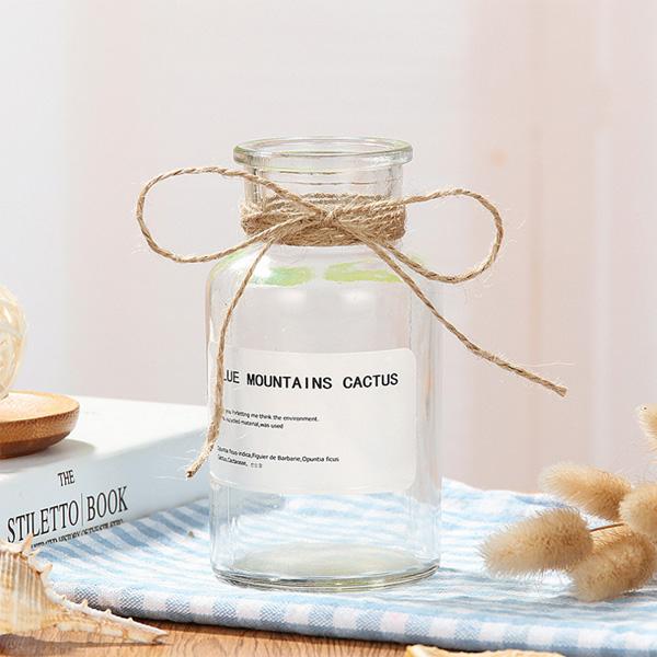 【BlueCat】棕色 透明 大小瓶口 玻璃花瓶 (500ml) 花器 花藝 居家裝飾