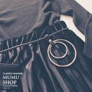 MUMU【A10555】雙層金屬圓圈編織腰帶