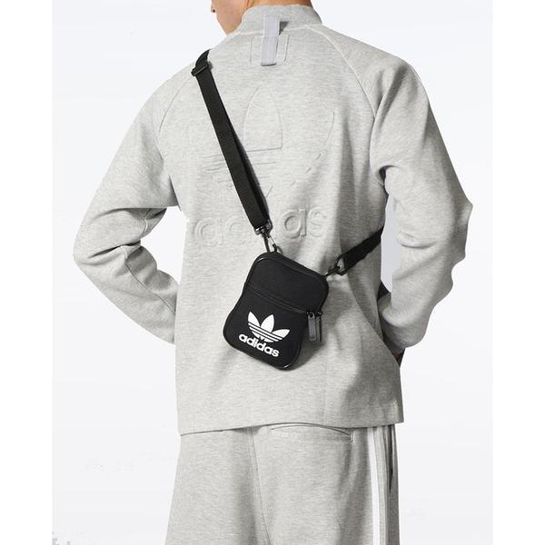 J- adidas TREFOIL FESTIVAL 側背包 休閒 潮流 黑 小側包 大LOGO 三葉草 EI7411