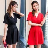 夏季夜店女裝修身顯瘦小心機性感露背修身洋裝連衣裙小黑裙女 森雅誠品