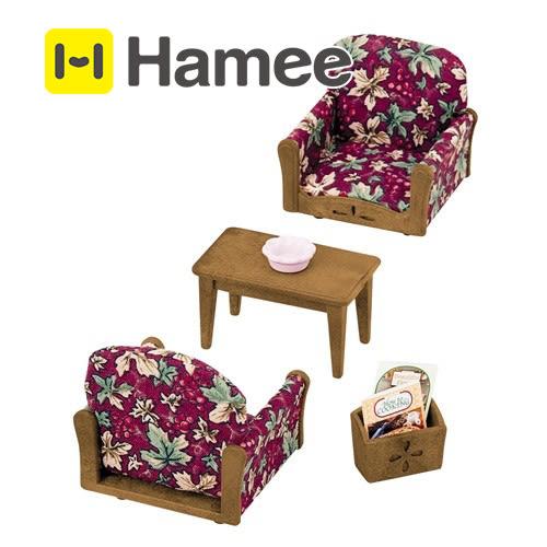 現貨 Hamee 日本 EPOCH 森林家族 客廳單人沙發組 袖珍玩具 傢俱 茶几 書報架 EP24650
