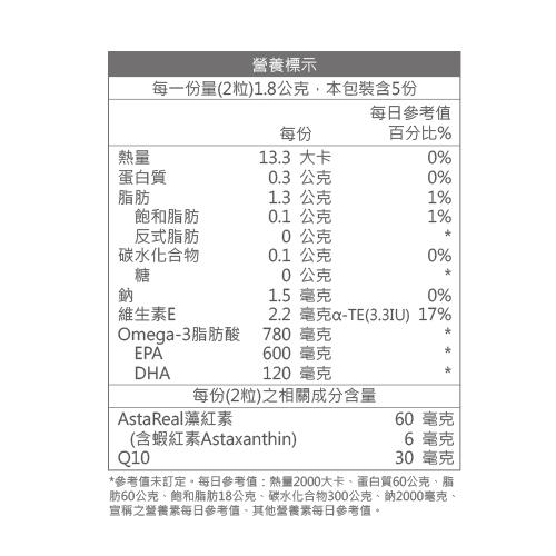 Astapeutic 藻紅素+高EPA魚油+Q10 (10粒)