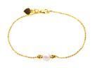 【元大珠寶】『水晶珍珠刻花球』黃金手鍊-純金9999國家標準